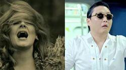 Nella corsa al miliardo Adele è super veloce, ma Psy è ancora in