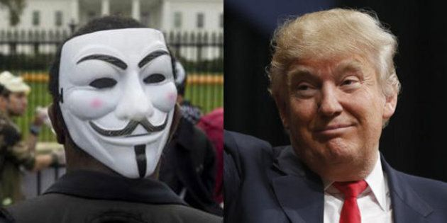 Anonymous avverte Donald Trump:
