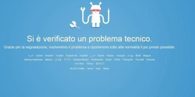 Twitter down, fuori uso il social network: