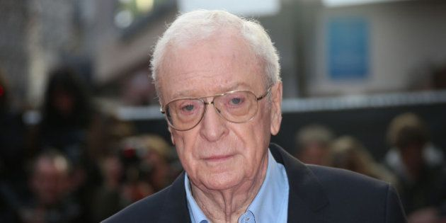 Michael Caine poses for photographers upon arrival at the premiere of the film 'Youth', as part of the...