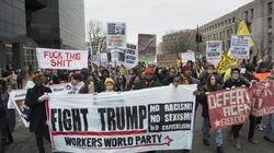 Sassaiole contro auto e vetrine, proteste a Washington durante il giuramento di