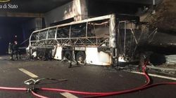 Bus ungherese si incendia in A4: 16 le