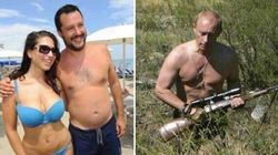 Da Salvini a Putin. Il machismo nell'iconografia del leader a petto