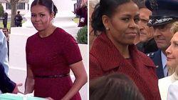 Gli sguardi di Michelle su Hillary e Melania dicono