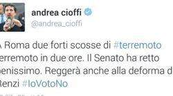 Il tweet di pessimo gusto del senatore M5S Cioffi sul terremoto. Sui social: