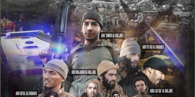 Isis celebra terroristi di Parigi: fotomontaggio con volti e nomi in stile Hollywood. Francia: