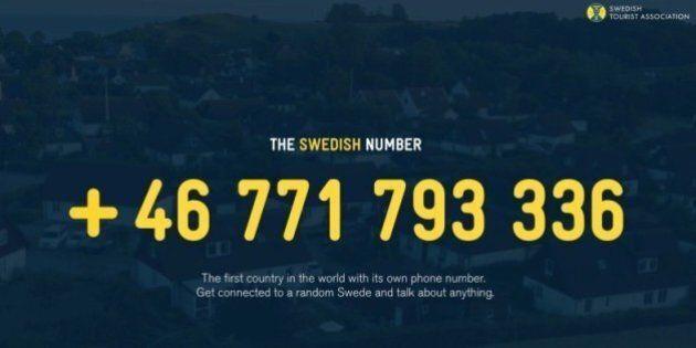 La Svezia ha il proprio numero telefonico nazionale: chiamando risponde un cittadino svedese a
