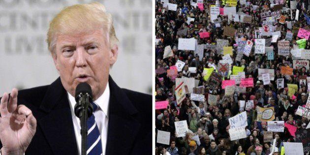 Donald Trump sulla marcia delle donne: