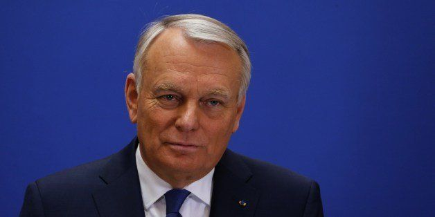 French Socialist Prime Minister Jean-Marc Ayrault delivers a speech after the second results of the of the second round of th