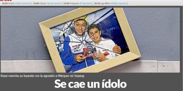 Valentino Rossi, i giornali stranieri lo condannano: