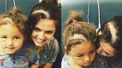 La figlioletta si opera al cervello: così questa mamma le dimostra il suo amore