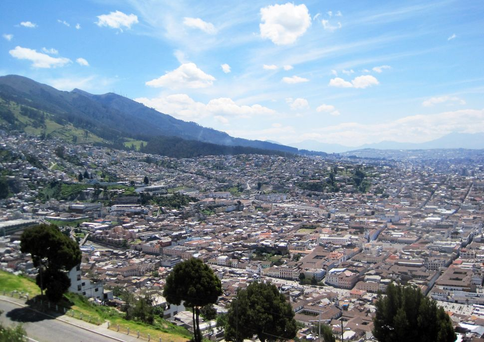 Quito, Ecuador's capitol city, is located in the Andes Mountains of north-central Ecuador.(Annika McGinnis/MCT/Getty Images)