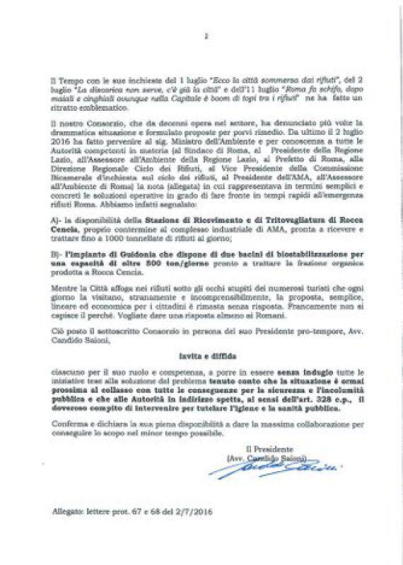 Rifiuti Roma, il Consorzio di Cerroni scrive a Vignaroli, vicepresidente della comm. Ecomafie. Il Pd:...