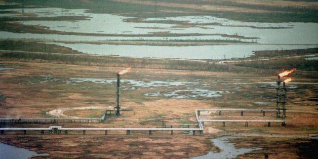 A natural gas deposit, tyumen region, siberia, russia,the export of russian gas increased by more than two billion cubic metr