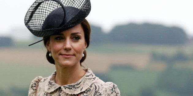 THIEPVAL, FRANCE - JULY 1: Duchess of Cambridge attends the 100th anniversary of the beginning of the...
