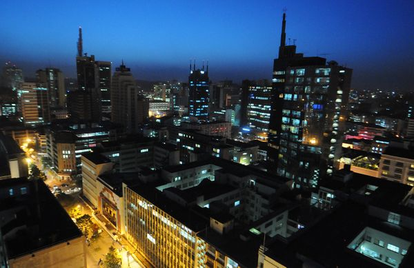 The Emerging Cities Outlook notes that fast-rising Nairobi is an important center of regional politics.  <br> <em>A night vie