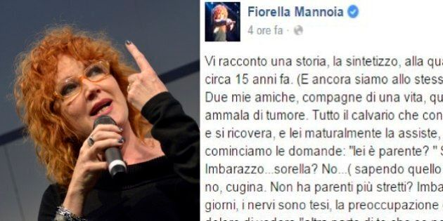 Unioni Civili, Fiorella Mannoia su Facebook: