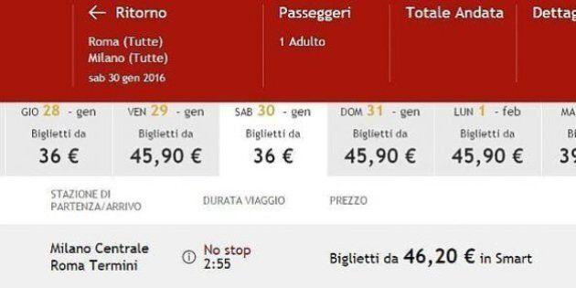 Family day, Italo offre sconto del 30% per andare a Roma il 30