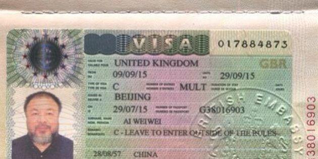 Ai Weiwei, visto di sei mesi negato da Londra per evitare la presenza quando arriverà il premier cinese...