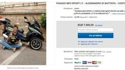 Dibba vende su Ebay la moto del tour: