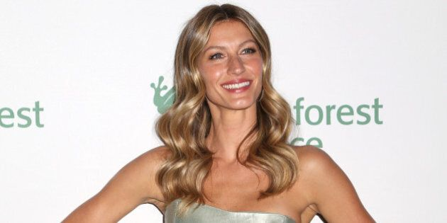 Gisele Bundchen attends the 2014 Rainforest Alliance Gala at the American Museum of Natural History on...