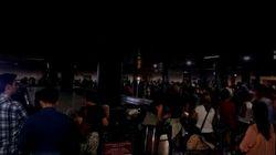 Dopo l'incendio, il black out: l'aeroporto di Fiumicino ancora in