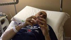 Brosio operato, video dal letto d'ospedale: