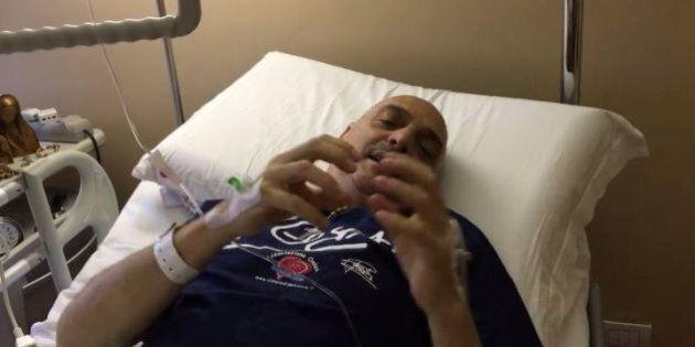 Paolo Brosio operato, video dall'ospedale: