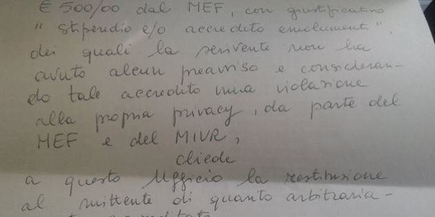 Insegnante restituisce a Matteo Renzi i 500 euro del bonus docenti della