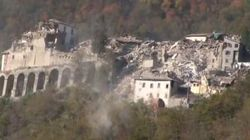 Ad Arquata e Amatrice crollano i pochi edifici che avevano resistito alla scossa del 24