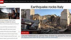 La notizia del terremoto di Norcia riportata su tutte le prime pagine