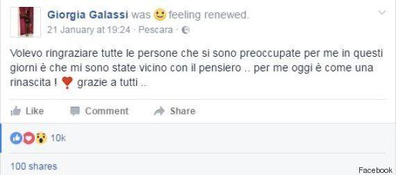 Rigopiano, la sopravvissuta Giorgia Galassi insultata per un post su Facebook: