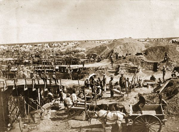 """A major driving force behind South African settlement is the discovery of <a href=""""http://www.sahistory.org.za/article/fight-"""