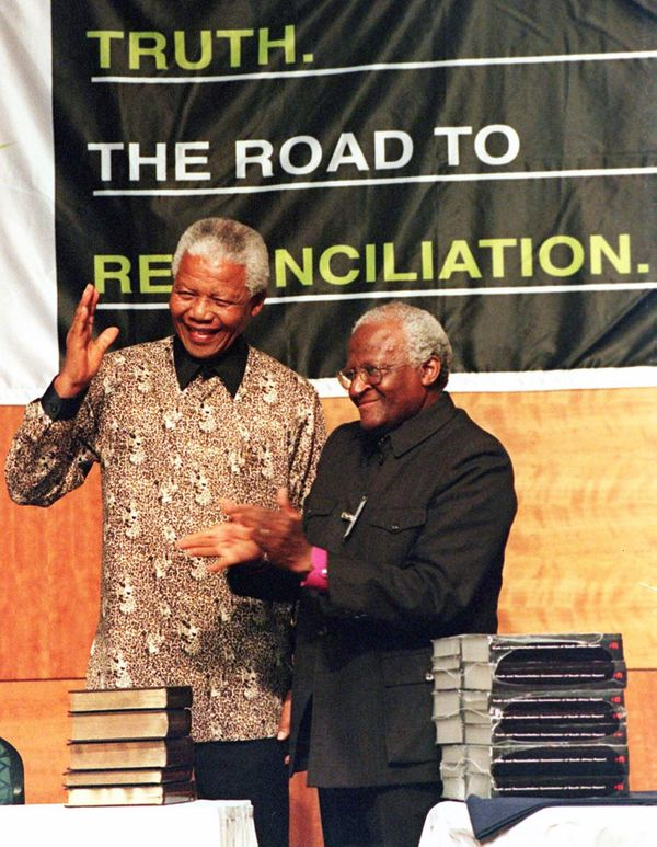 """In 1995, Desmond Tutu leads the <a href=""""http://www.usip.org/publications/truth-commission-south-africa"""" target=""""_blank"""">Trut"""