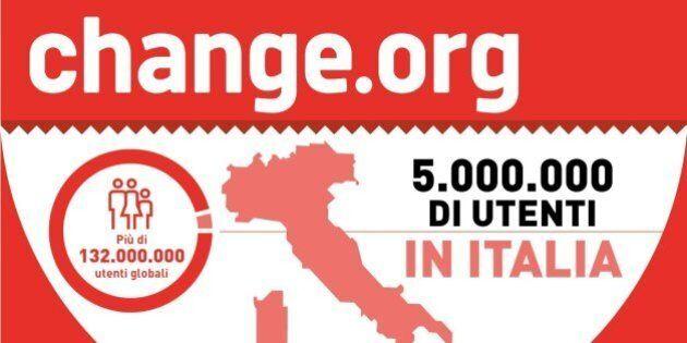 Change.org continua a crescere, superati i 5 milioni di utenti in