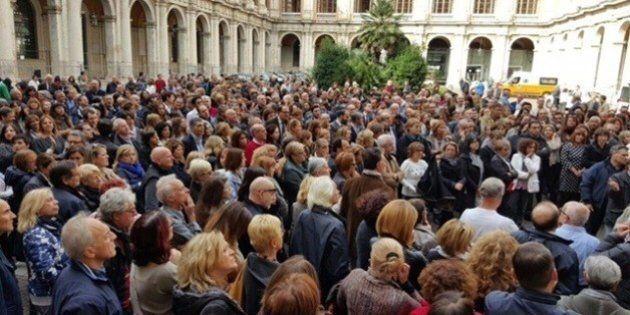 Flash mob al Ministero dell'Economia. Invasione di dipendenti nei cortili e nei corridoi del dicastero...