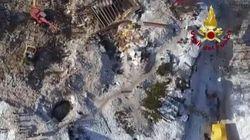 La devastazione dell'hotel Rigopiano ripresa da un drone a una settimana dalla