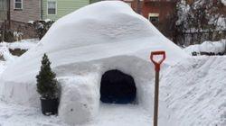 Affittasi su Airbnb Igloo costruito durante la tempesta di New