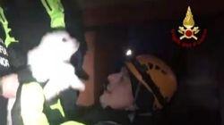 Il video del momento in cui i vigili del fuoco salvano i cuccioli di Nuvola e