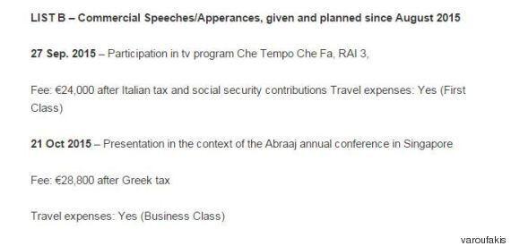 Yanis Varoufakis pubblica i compensi delle conferenze: (quasi) tutte gratis, 1000 euro al minuto per...