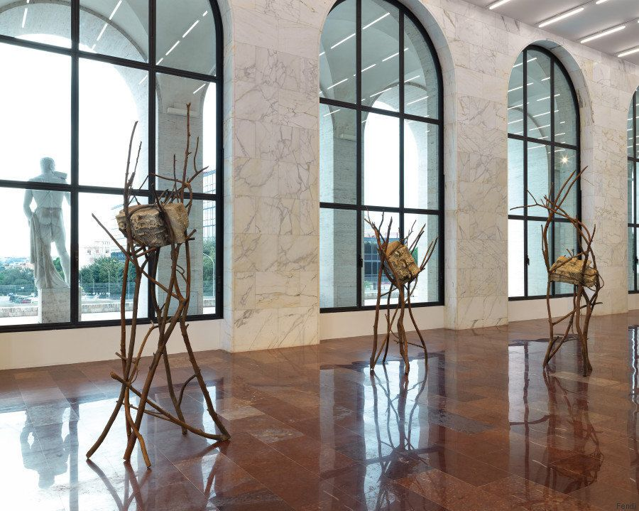 Le opere di Giuseppe Penone in 'Matrice', la prima mostra di Fendi al Palazzo della Civiltà