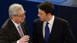 Renzi vs Juncker: lo scontro visto su