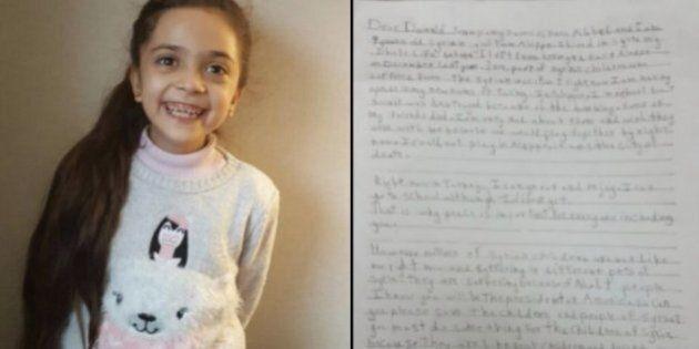 Bana, la bimba di Aleppo di sette anni che ha scritto una lettera a Donald Trump: