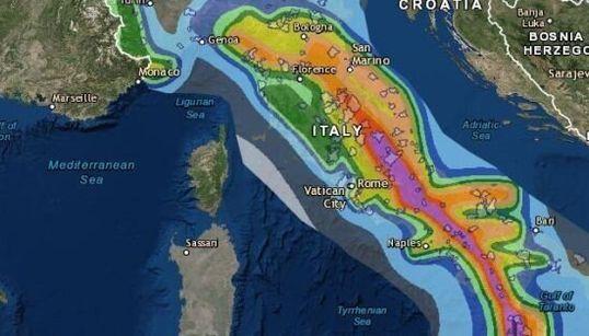 La mappa dell'Ingv spiega quali sono le zone a rischio terremoto in