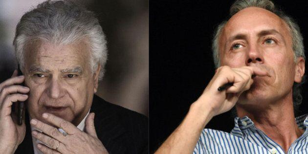 Denis Verdini: duello tv con Travaglio, in campagna elettorale coi candidati Pd. Così si legittima