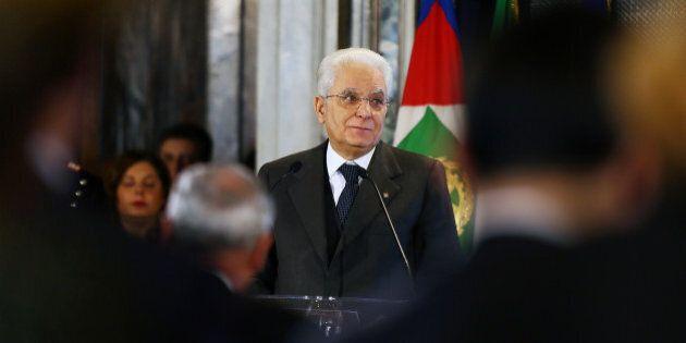 ROME, ITALY - MARCH 08: Italian President Sergio Mattarella attends the celebrations for International...