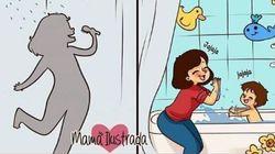 Queste vignette mostrano la rivoluzione nella vita di una donna che diventa