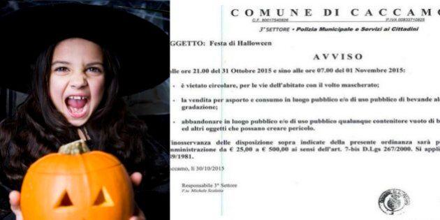 Halloween, il sindaco di Caccamo (Pa) vieta festeggiamenti e maschere: