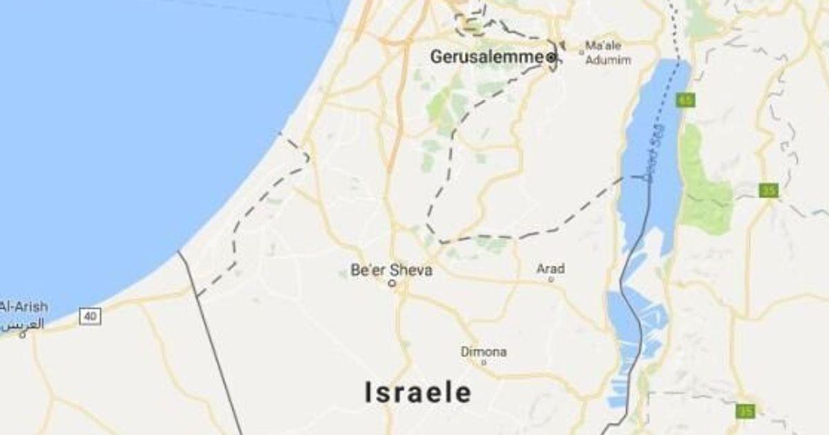 Cartina Israele Giordania.Protesta Contro Google Maps Per Aver Cancellato Dalle Cartine Il Nome Palestina Sostituito Con Israele L Huffpost