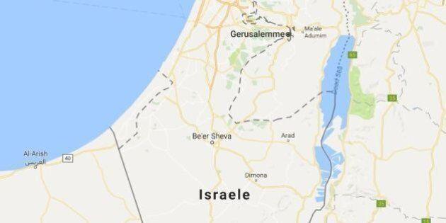 Protesta contro Google Maps per aver cancellato dalle cartine il nome Palestina, sostituito con